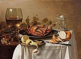 Pieter Claesz, Nature morte au crabe - GRANDS PEINTRES / Claesz