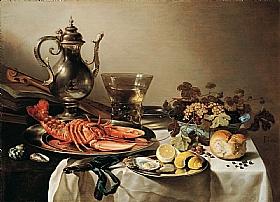 Pieter Claesz, Nature morte au homard - GRANDS PEINTRES / Claesz