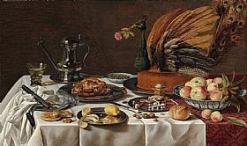 Pieter Claesz, Nature morte au paté de Dinde - GRANDS PEINTRES / Claesz