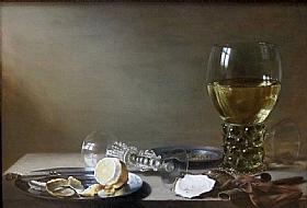 Pieter Claesz, Nature morte fin de banquet - GRANDS PEINTRES / Claesz