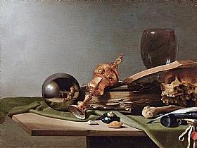 Pieter Claesz, Nature morte à la boule de cristal - GRANDS PEINTRES / Claesz