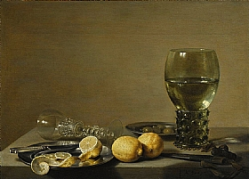 Pieter Claesz, Nature morte aux citrons - GRANDS PEINTRES / Claesz