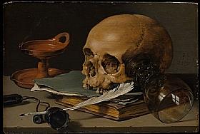 Pieter Claesz, Vanité à la plume d'oie - GRANDS PEINTRES / Claesz