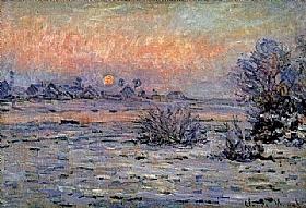 Claude Monet, Soleil d'hiver à Lavancourt - GRANDS PEINTRES / Monet