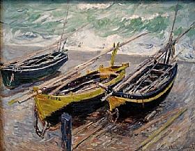 Claude Monet, Bateaux de pêche - GRANDS PEINTRES / Monet