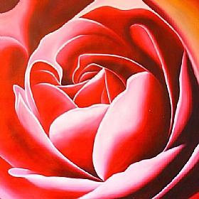 Amour et Passion, Coeur de Rose - GRANDS FORMATS / 80cm x 80cm