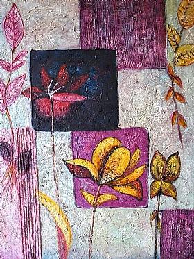 Fleurs et Nature, composition florale mauve - GRANDS FORMATS / 75cm x 100cm