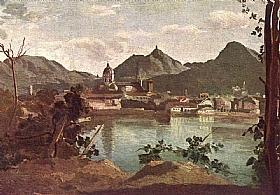 Camille Corot, La ville de Come et le lac - GRANDS PEINTRES / Corot