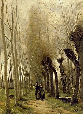 Camille Corot, Chemin de l'église de Marissel - GRANDS PEINTRES / Corot