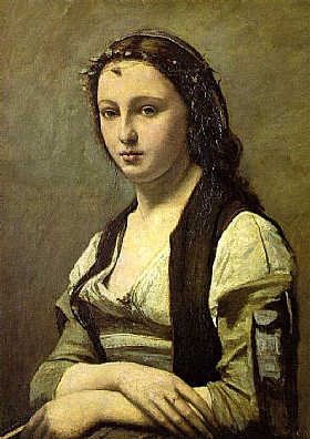 Camille Corot, Portrait de Berthe Goldschmidt - GRANDS PEINTRES / Corot