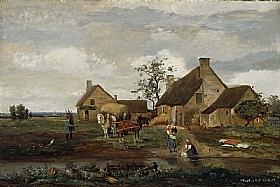Camille Corot, Ferme dans la Nièvre - GRANDS PEINTRES / Corot