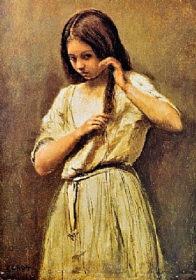 Camille Corot, Jeune fille à la toilette - GRANDS PEINTRES / Corot