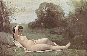 Camille Corot, Nymphe couchée dans la campagne - GRANDS PEINTRES / Corot