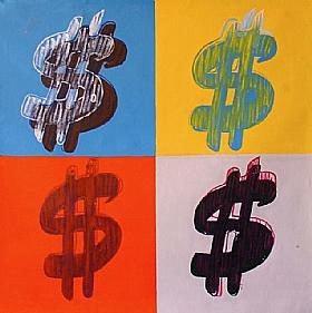 Composition et Etudes, Dollar U$ - PEINTURES / Tableaux Figuratifs