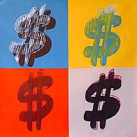 Le monde de la finance, Dollar U$ - GRANDS FORMATS / 80cm x 80cm