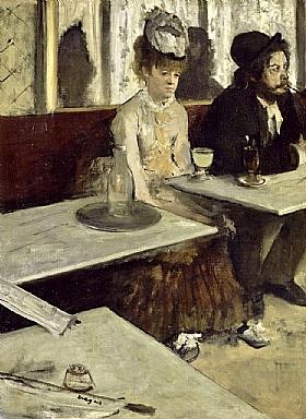 Edgar Degas, L'absinthe - GRANDS PEINTRES / Degas