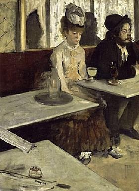 Edgar Degas, L'absynthe - GRANDS PEINTRES / Degas