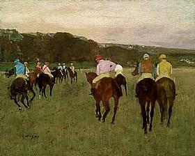 Edgar Degas, Courses de chevaux à Longchamp - GRANDS PEINTRES / Degas