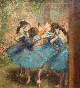 Edgar Degas, Les danseuses Bleues - GRANDS PEINTRES / Degas