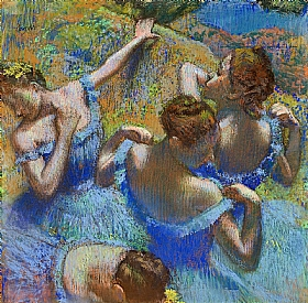 Edgar Degas, Danseuses bleues - GRANDS PEINTRES / Degas