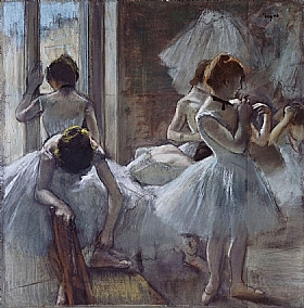 Edgar Degas, Groupe de danseuses - GRANDS PEINTRES / Degas