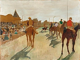 Edgar Degas, Défilé de chevaux de courses - GRANDS PEINTRES / Degas