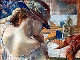 Edgar Degas, Face au miroir - GRANDS PEINTRES / Degas