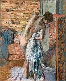 Edgar Degas, Femme après le bain - GRANDS PEINTRES / Degas