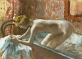 Edgar Degas, Femme quittant le bain - GRANDS PEINTRES / Degas