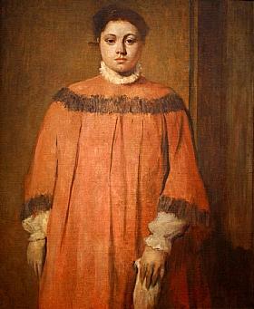 Edgar Degas, Fille en rouge - GRANDS PEINTRES / Degas