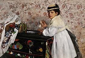 Edgar Degas, Hortense Valpincon enfant - GRANDS PEINTRES / Degas