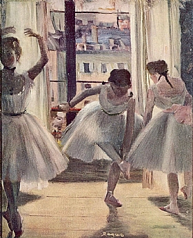 Edgar Degas, Trois danseuses - GRANDS PEINTRES / Degas