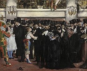 Edouard Manet, Le bal masqué a l'Opéra - GRANDS PEINTRES / Manet