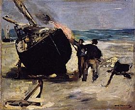 Edouard Manet, Le bateau goudronné - GRANDS PEINTRES / Manet