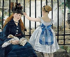 Edouard Manet, Le chemin de fer - GRANDS PEINTRES / Manet