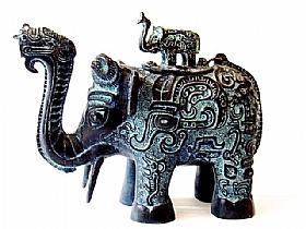 carafe en bronze, Elephant - SCULPTURES / Bronzes