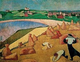 Emile Bernard, Moisson au bord de la mer - GRANDS PEINTRES / Bernard