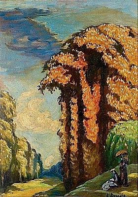 Emile Bernard, Paysage à Saint-Cloud - GRANDS PEINTRES / Bernard
