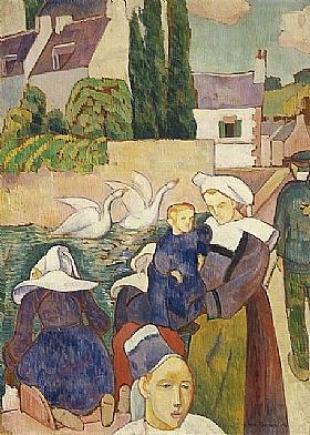 Emile Bernard, Pont et cygnes à Pont-Aven - GRANDS PEINTRES / Bernard