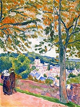Emile Bernard, Vue de Pont-Aven - GRANDS PEINTRES / Bernard