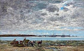 Eugène Boudin, Récolte du varech rade de Brest - GRANDS PEINTRES / Boudin