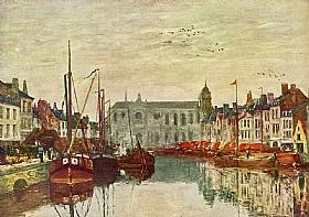Eugène Boudin, Canal à Bruxelles - GRANDS PEINTRES / Boudin