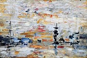Eugène Boudin, Etude du ciel dans le bassin du Havre - GRANDS PEINTRES / Boudin