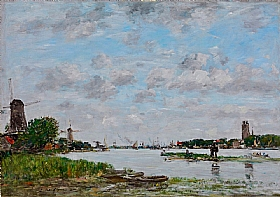 Eugène Boudin, La Meuse à Dordrecht - GRANDS PEINTRES / Boudin
