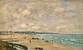Eugène Boudin, La plage de Trouville - GRANDS PEINTRES / Boudin