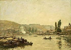 Eugène Boudin, La Seine à Rouen - GRANDS PEINTRES / Boudin