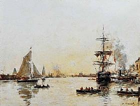 Eugène Boudin, Le Havre - Avant port - GRANDS PEINTRES / Boudin