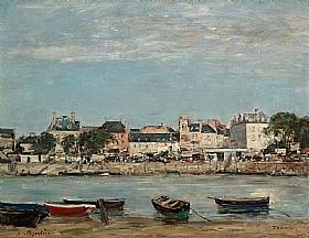 Eugène Boudin, Le port de Trouville - GRANDS PEINTRES / Boudin