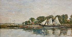 Eugène Boudin, Paysage maritime - GRANDS PEINTRES / Boudin