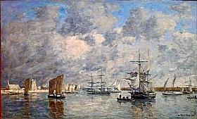 Eugène Boudin, Port de Camaret - GRANDS PEINTRES / Boudin